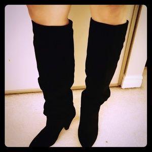 Scrunch suede boots